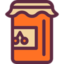 Food And Restaurant, Jar, food, strawberry, breakfast, jam, Conserve DarkSlateGray icon