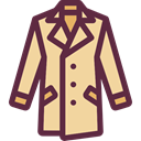 winter, Clothes, clothing, jacket, Coat, fashion, Overcoat, Garment DarkSlateGray icon