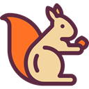 Animal, zoo, Animals, squirrel, Wild Life, Animal Kingdom DarkSlateGray icon