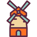 ecology, Ecological, Farming And Gardening, nature, buildings, Windmill, mill DarkSlateGray icon