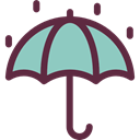 Umbrella, weather, Protection, Rain, rainy, Tools And Utensils, Umbrellas Black icon