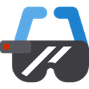 Multimedia, digital, technology, electronic, electronics, virtual reality, Ar Glasses DarkSlateGray icon