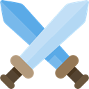 Multimedia, gaming, video game, swords, leisure, weapons, Fighting Game Black icon