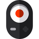 Camera, Remote, buttons, technology, electronics, Remote control Black icon
