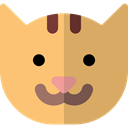 Cat, pet, Breed, kitty, Animals, domestic, Feline SandyBrown icon
