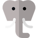 elephant, zoo, Animals, Wild Life, Animal Kingdom DarkGray icon