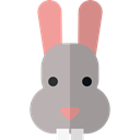 Bunny, zoo, Animals, rabbit, mammal, Wild Life, Animal Kingdom Black icon