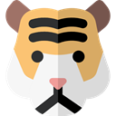 Tiger, zoo, Animals, mammal, wildlife, Animal Kingdom WhiteSmoke icon