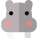 zoo, Animals, hippopotamus, wildlife, Animal Kingdom DarkGray icon