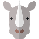 zoo, Animals, mammal, rhinoceros, wildlife, Animal Kingdom DarkGray icon