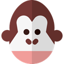 mammal, wildlife, Primate, Animal Kingdom, monkey, zoo, Animals SaddleBrown icon