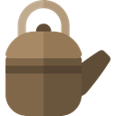 miscellaneous, tea, food, kettle, hot drink, kitchenware, Tools And Utensils, Coffee Pot DarkOliveGreen icon