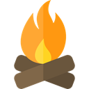 miscellaneous, hot, Burn, campfire, Flame, nature, Bonfire, Camping Black icon