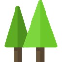 nature, landscape, Forest, woods, trees, pines YellowGreen icon
