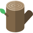 Log, wooden, wood, nature DarkOliveGreen icon