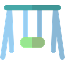 Park, Playground, swing, leisure, Kid And Baby SkyBlue icon