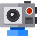 domestic, video camera, gopro, digital camera, camcorder, technology, electronics Gray icon