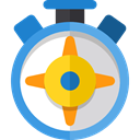 Cardinal Points, Sports And Competition, location, Direction, Tools And Utensils, compass, Orientation CornflowerBlue icon