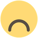 Face, smiley, sad, Frown, Emoji, expression, feeling Khaki icon