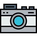 photo camera, technology, electronics, photograph, picture, interface, digital Silver icon
