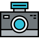 technology, electronics, photograph, picture, interface, digital, photo camera Gray icon