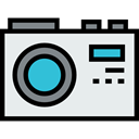 picture, equipment, electronics, photo camera Lavender icon