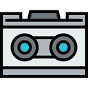 picture, digital, technology, electronic, electronics, Photographer, photo camera, Stereo Camera Black icon