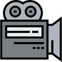 cinema, film, movie, technology, electronics, video camera, Video Cameras Gray icon