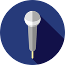 music, speaker, Microphone, technology, electronics, sing, singer, karaoke MidnightBlue icon