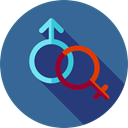 Man, male, Female, Femenine, Shapes And Symbols, woman, Girl, Gender, mars, symbol, venus, signs, Masculine SteelBlue icon