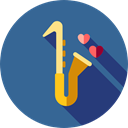 musical instrument, sax, Wind Instrument, Music And Multimedia, music, jazz, saxophone SteelBlue icon