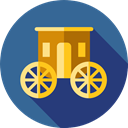 Carriage, transport, old, Antique, horses, transportation SteelBlue icon
