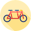 sport, transportation, transport, Bicycle, romantic, Tandem Moccasin icon