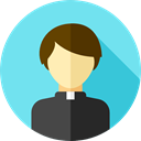 Man, people, user, Avatar, job, Priest, christian, religious, profession, pastor, Occupation, Professions And Jobs SkyBlue icon