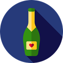 champagne, Celebration, Alcoholic Drink, Food And Restaurant, party, Alcohol, food, Bottle MidnightBlue icon