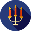 lamp, interior, candlestick, Candlelamp, miscellaneous, shapes, Candle, Flame DarkSlateBlue icon