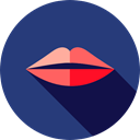 kiss, romantic, lips, Femenine, love, Body Part, Love And Romance DarkSlateBlue icon