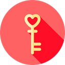Key, love, romantic, Tools And Utensils, Heart Shaped, Love And Romance Tomato icon