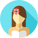 people, user, woman, Beautiful, wedding, Bride, Love And Romance SkyBlue icon