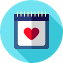 Calendars, Time And Date, Schedule, interface, Administration, Organization, Calendar, time, date SkyBlue icon