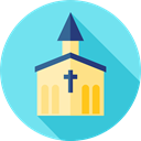 real estate, Architecture And City, church, religion, temple, buildings, Chapel, christian SkyBlue icon