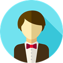 Man, people, user, wedding, groom, Elegant, Love And Romance SkyBlue icon