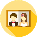 picture, frame, wedding, Love And Romance Khaki icon