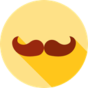 fashion, hair, moustache, Facial Hair, Beauty, Mustache Khaki icon