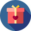 birthday, gift, present, surprise, Love And Romance SteelBlue icon
