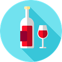 cup, drink, food, glass, drinking, Wine Glass, Food And Restaurant, wine SkyBlue icon
