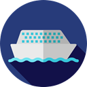 transportation, Boat, transport, ship, Cruise, Yacht, Ships DarkSlateBlue icon