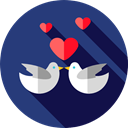 love, Animals, romantic, Love Birds, Heart DarkSlateBlue icon