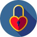 Love And Romance, padlock, romantic, Tools And Utensils, Heart Shaped, Key, love SteelBlue icon