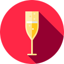 food, glass, champagne, drinks, Refreshment, Food And Restaurant Crimson icon